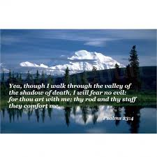 Thy Rod And Thy Staff Comfort Me Shadow Of Death Bible Verse Psalm 23 4 Scenery Magnet Saying