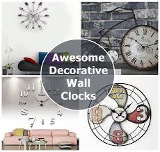 10 awesome decorative u0026 functional modern wall clocks