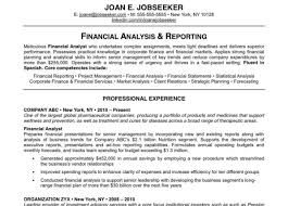 corporate finance analyst resume sample federal financial analyst