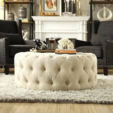 round upholstered coffee table table top ottoman top round upholstered coffee table best ideas