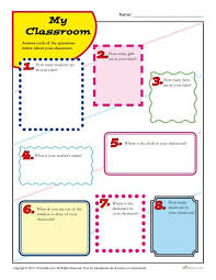my classroom back to printable activity