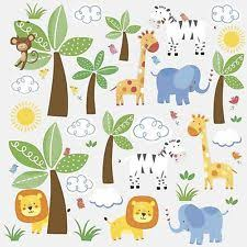 Jungle Nursery Wall Decor Roommates Jungle Nursery Wall Décor Ebay