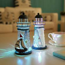 lighthouse home decor color changing led lantern lighthouse night light nautical style