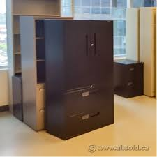 black 2 door filing cabinet teknion black 2 drawer lateral file cabinet with 2 door storage
