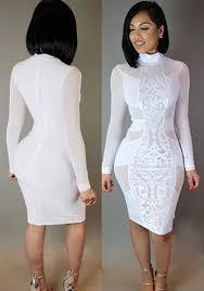 white bodycon dress white patchwork grenadine bodycon bandage club midi dress