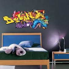 tag pour chambre stickers ados cheap stickers muraux graffiti look de style popart