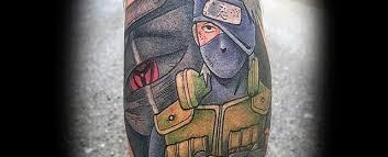 30 kakashi tattoo designs for men anime ink ideas