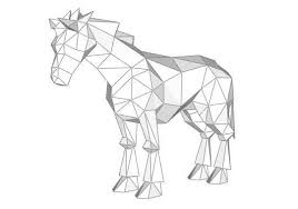 animal paper model horse ver 3 free template download http