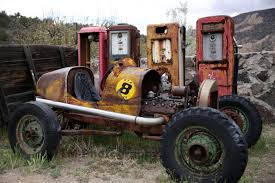 old rusty cars rod old race car old rod old gas pumps rusty