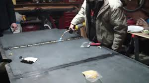 brunswick 3 piece slate pool table how to apply bees wax to your slate pool table youtube