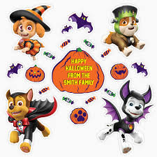 labels for kids paw patrol halloween decals