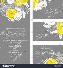 Wedding Invitations And Thank You Cards Wedding Invitation Thank You Card Save Stock Vector 148468268