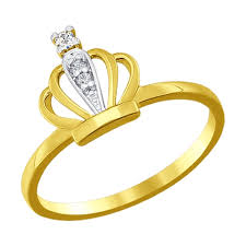 gold crown rings images Yellow gold 14k princess crown ring jd51016771 sokolov jpg