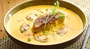 cuisiner du foie gras recette crème de potimarron et escalope de foie gras d oie poêlée