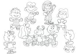 free charlie brown snoopy peanuts coloring pages charlie