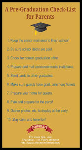 high school senior mailing list a list of 10 things to do before graduation day parents and