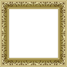 gold photo frame png with brown ornaments frames