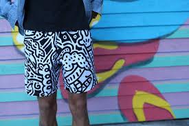 doodle edit boardies x mr doodle swim shorts