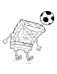 spongebob playing football coloring page boys pages of