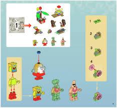 lego bottom undersea party instructions 3818 spongebob