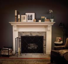 farmhouse fireplace mantel home decorating interior design