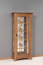 small curio cabinet with glass doors traditional simple living room with fire pit single door mullion
