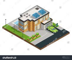 big modern green eco house solar stock vector 512597179 shutterstock