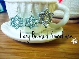 diy seed bead snowflake the corner of craft youtube