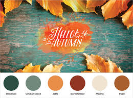 fall color pallette fall color palette guide for slideshow makers