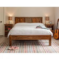 Solid Wood Furnitures Bangalore Solid Wood Sheesham King Queen Size Bed Camelias Collection By
