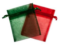 organza drawstring bags organza drawstring bags for christmas and green colors