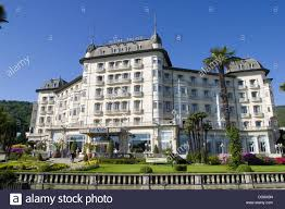 regina palace hotel stresa lake maggiore italy stock photo