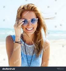 outdoor fashion portrait summer beach style stock photo 257924318