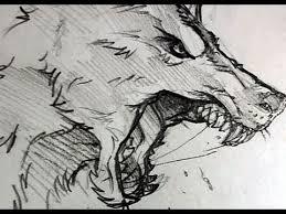 how to draw a wolf head werewolf head pencil work step by step