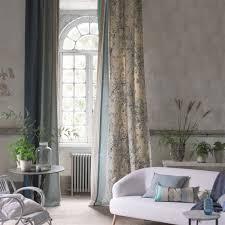Plum Flower Curtains Plum Blossom Graphite By Designers Guild At Eden Fabrics