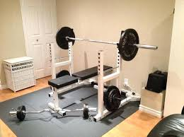 Bench Press Machine Weight White Exercise Weight Lift Adjustable Barbell Squat Bench Press