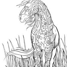 horse coloring pages adults archives mente beta