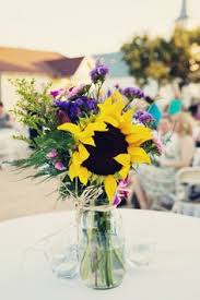 Sunflower Wedding Centerpieces by Rustic Wedding Ideas Mason Jar Centerpieces Jar Centerpieces