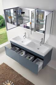 abodo 55 inch modern sink bathroom vanity in grey finish
