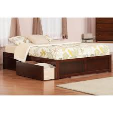 Small Bedroom Queen Size Bed Furniture Brown Wooden Size Bed With Storage Head Board And