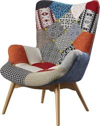 Patchwork Upholstered Furniture - bungalow malini button patchwork upholstered lounge chair