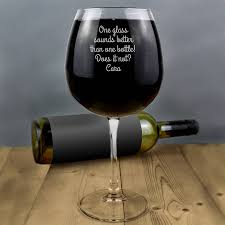 glass of wine holds a whole bottle of wine glass by letteroom