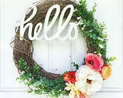 greenery wreath grapevine wreath year front door