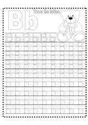 worksheet tracing letter b