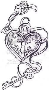 41 best heart key tattoo flash images on pinterest butterfly