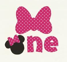 minnie mouse 1st birthday minnie mouse 1st birthday iron on fabric applique ebay