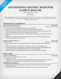 Sample Advertising Resume by 45 Graphic Designer Resume Samples For Your Inspirations Vinodomia