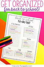 Getting Organized At Home by A Free Back To To Do List For Teachers This Checklist