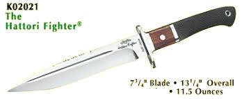 junglee hattori fighter fixed blade combat survival knife 7 3 4