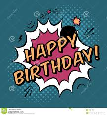 happy birthday book comic book text happy birthday stock vector image 92066342
